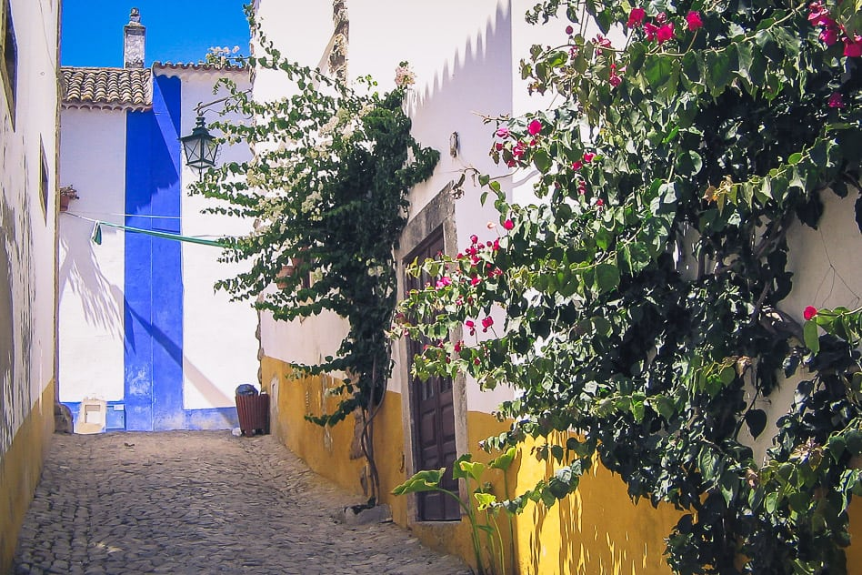 Obidos Northern Portugal Streets Houses