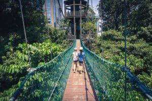 Kids Canopy Walk KL Eco Forest Kinderen