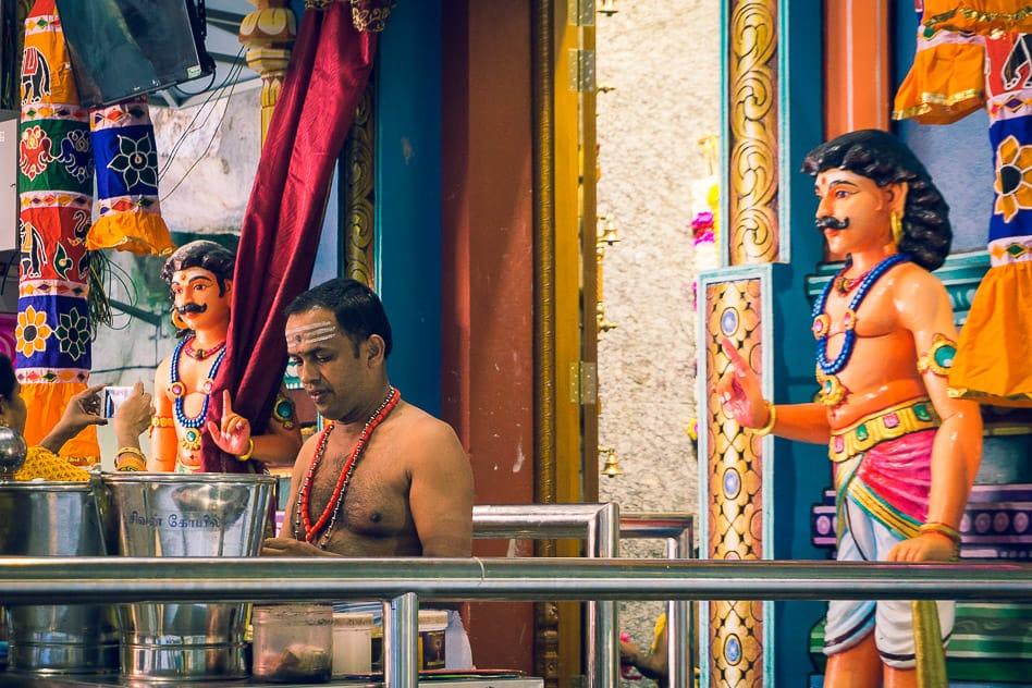 Hindu Priests Batu Caves Temple Malaysia