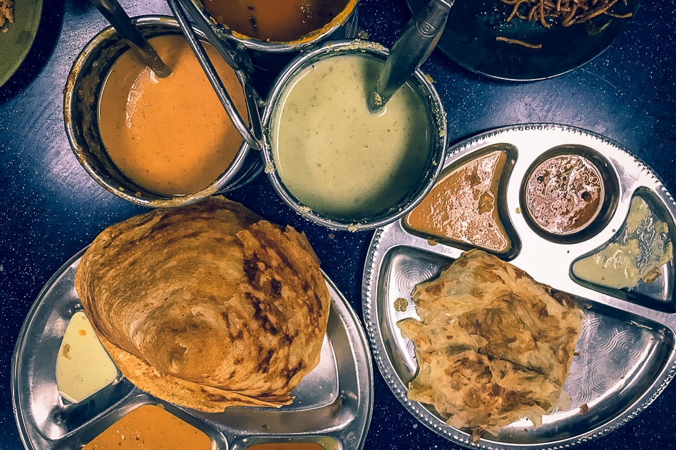 Batu Caves Indian Food Restaurant Malaysia