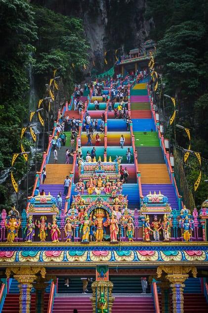 Batu Caves Colourful Stairs Malaysia