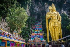 Batu Caves Stairs Statue Malaysia