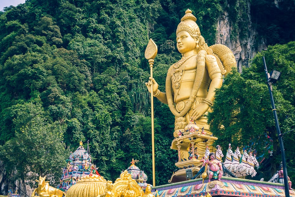 Batu Caves Statue Kuala Lumpur Hindu