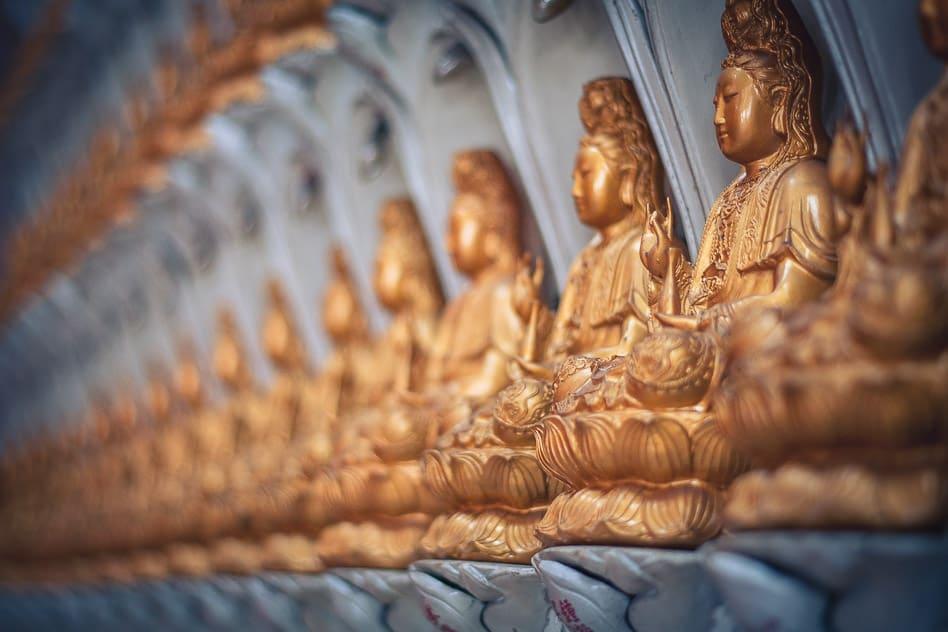 Detail Buddhist Statue Kek Lok Si Temple Penang