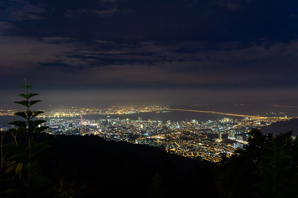 Night Skyline George Town Penang Hill