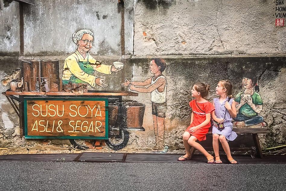 Kids Street Art George Town Malaysia