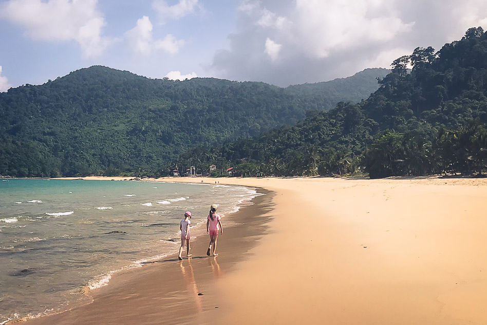Tioman Island Beach Walk Kids