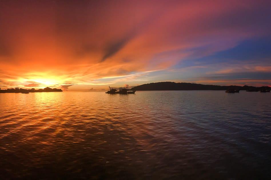 Sunset Kota Kinabalu Malaysia Waterfront