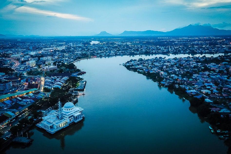 Kuching Drone Borneo Malaysia River
