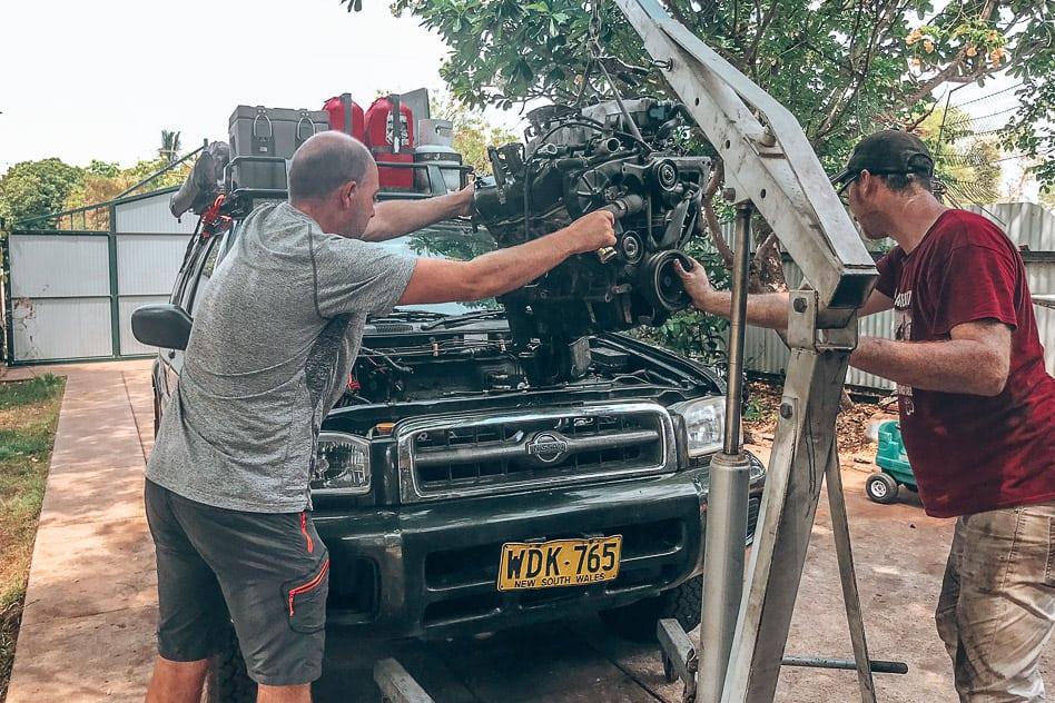 Auto Kapot Pech Outback Familie Australië