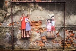 George Town Penang Malaysia Street Art Swing Kids Fun