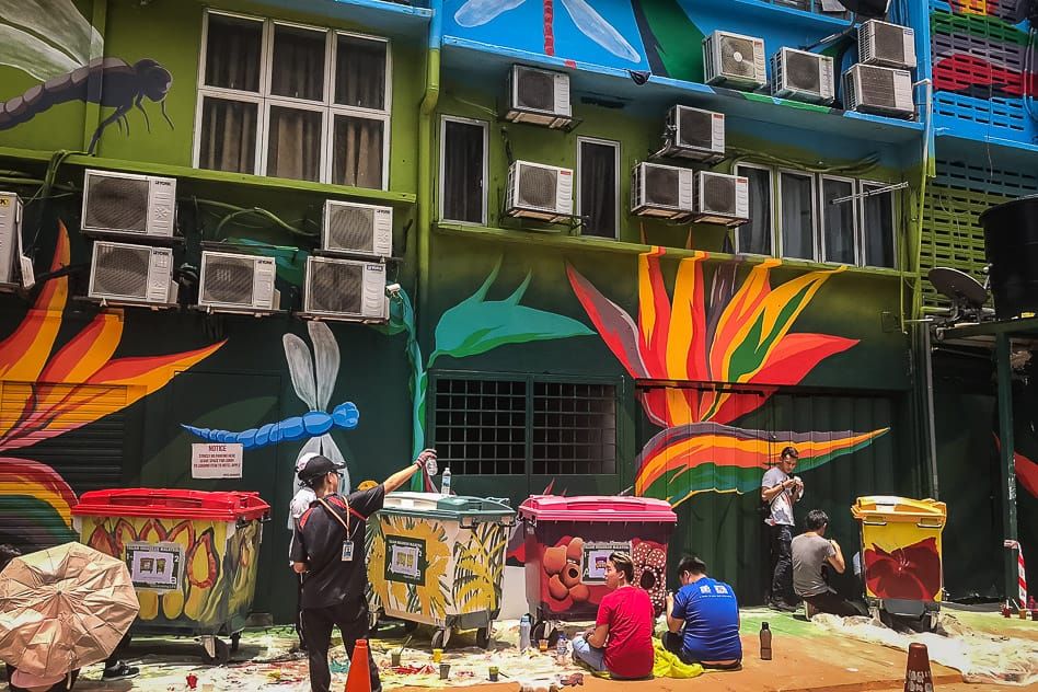 Kuala Lumpur Street Art Garbage Bin Artists