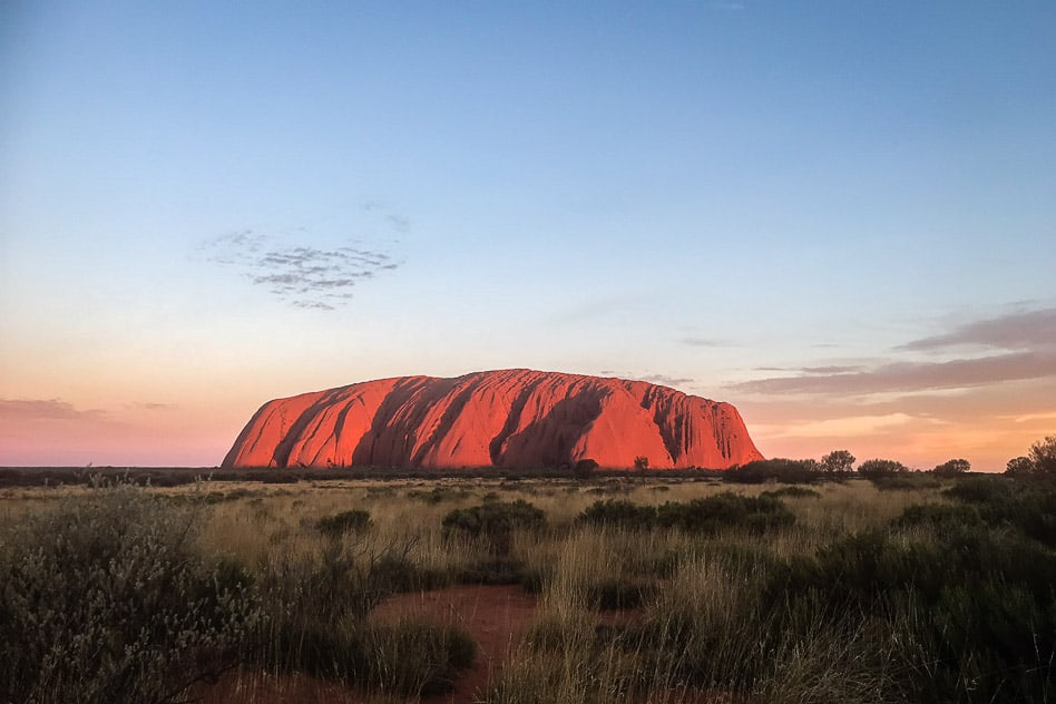 Sunset Uluru National Park Ayers Rock Australia