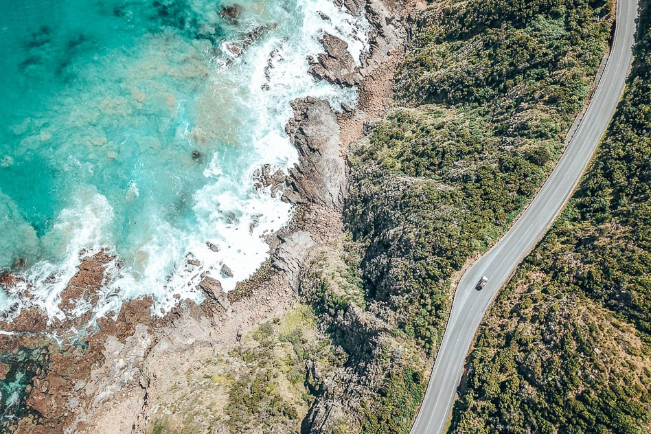 Drone Great Ocean Road Victoria Australia