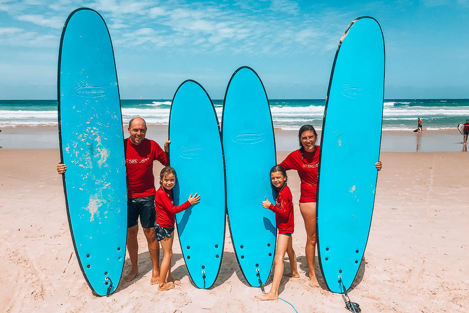Our first family surfing lesson with Go Ride A Wave