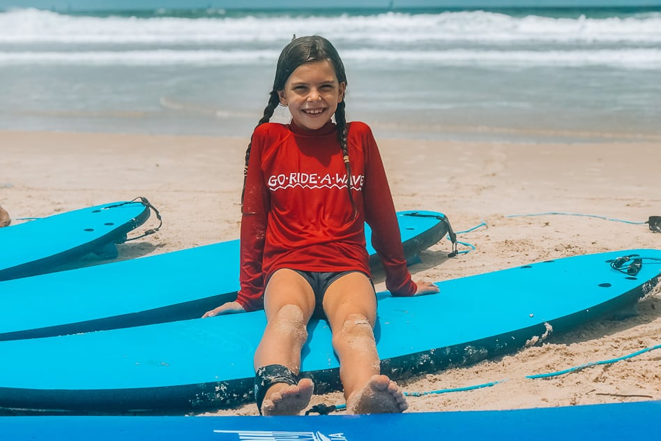 Go Ride A Wave Family Surfing Lesson Fun Kids