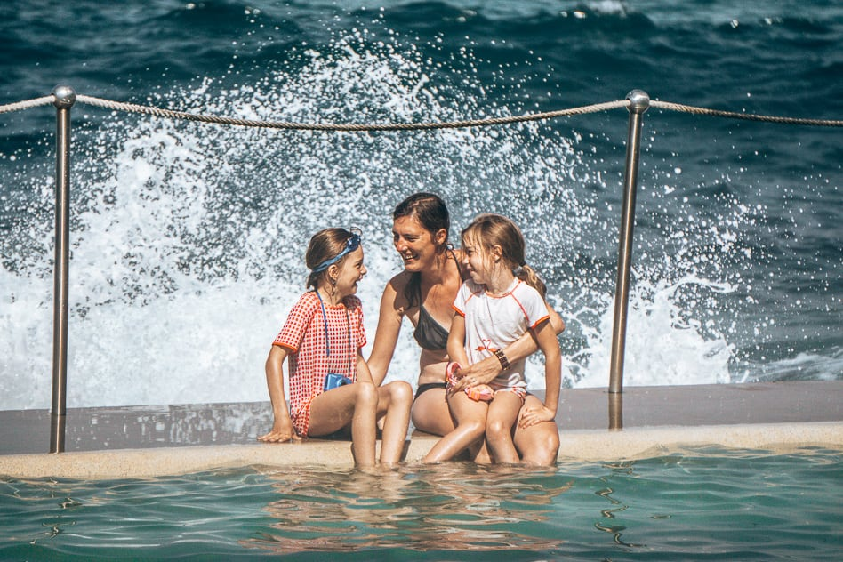 Bronte Beach Sydney Rock Pool Waves Family