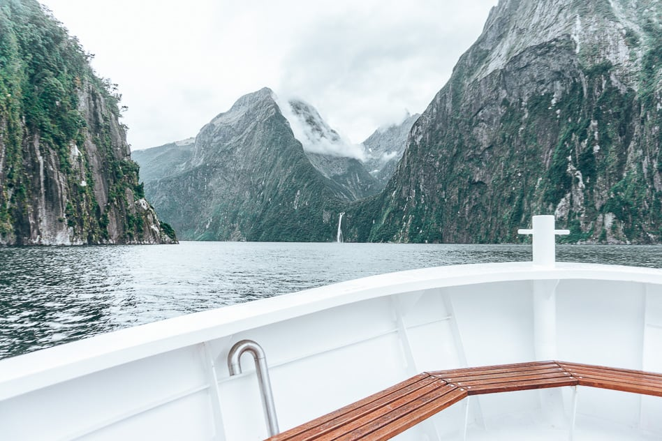 Scenery Nature Cruise Milford Sound New Zealand