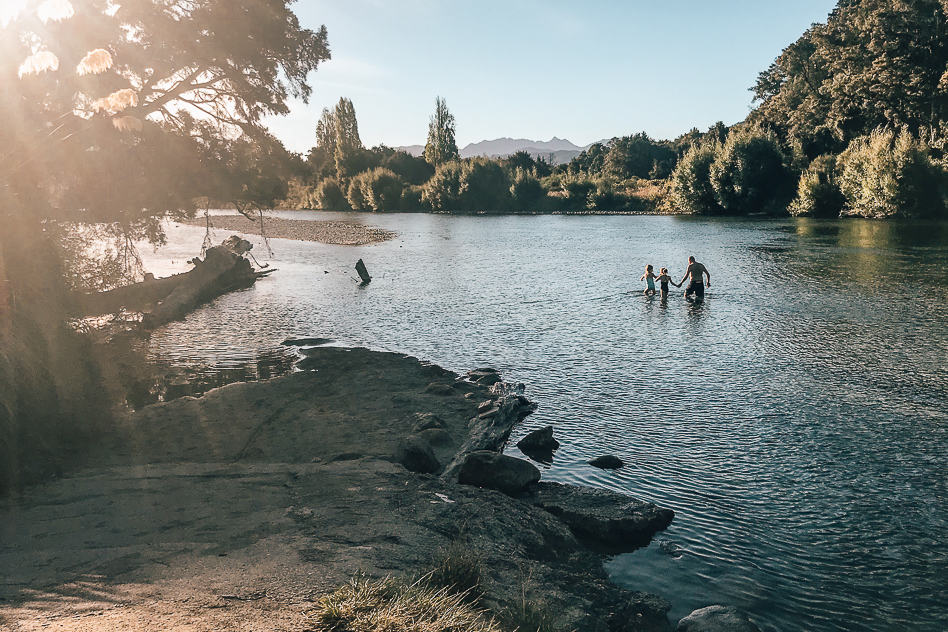 Campground River Murchison Nature New Zealand