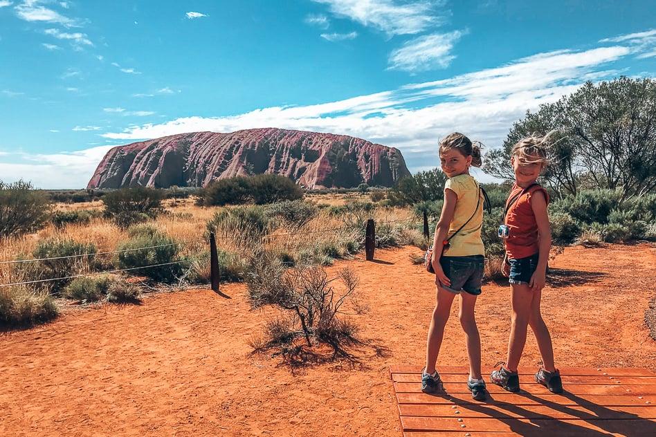 Uluru Familie Yuna Hanne Ayers Rock Trip Australië