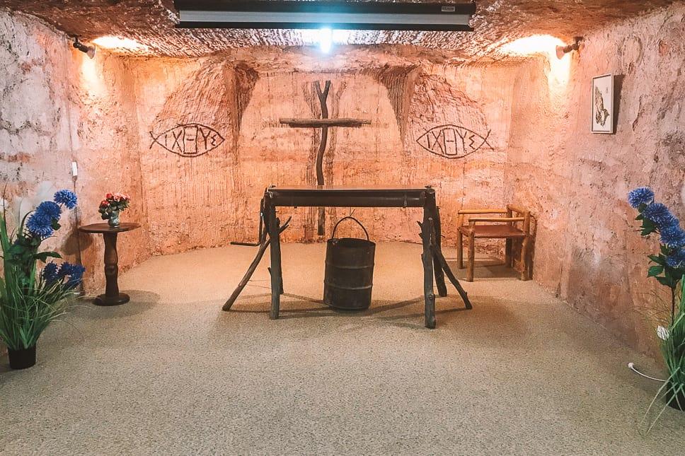 Church Coober Pedy Cave Underground Mine