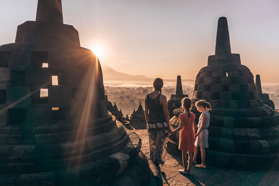 Golden Hour Early Borobudur Java