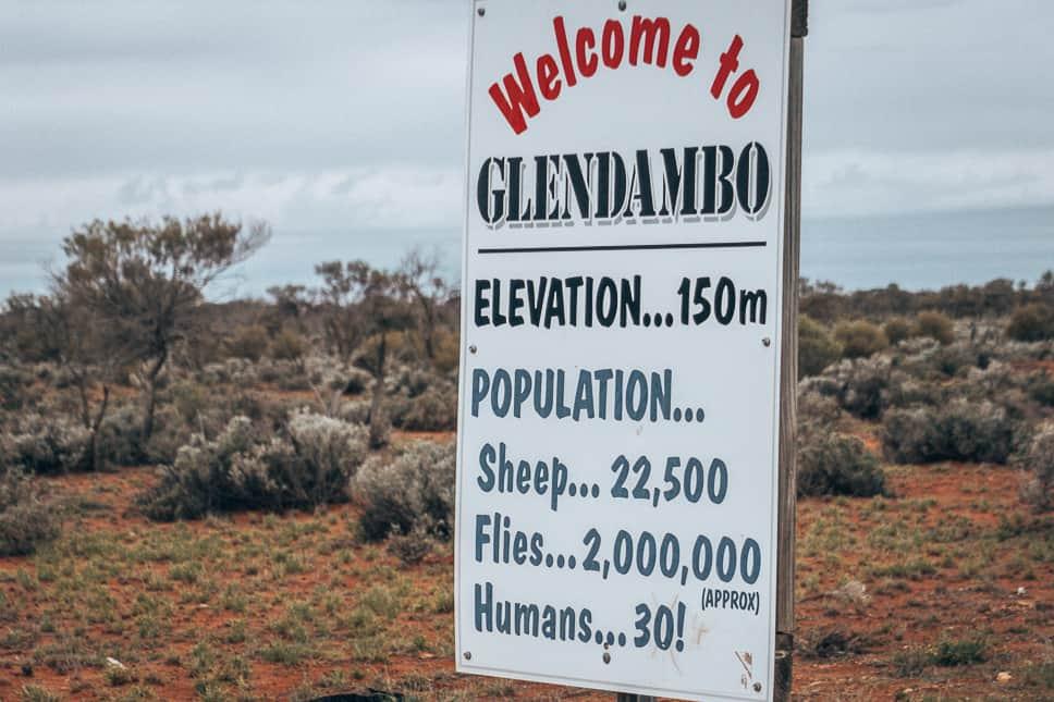 Glendambo Road Sign Stuart Highway