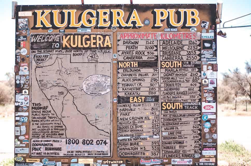 Kulgera Road House Stuart Highway Sign