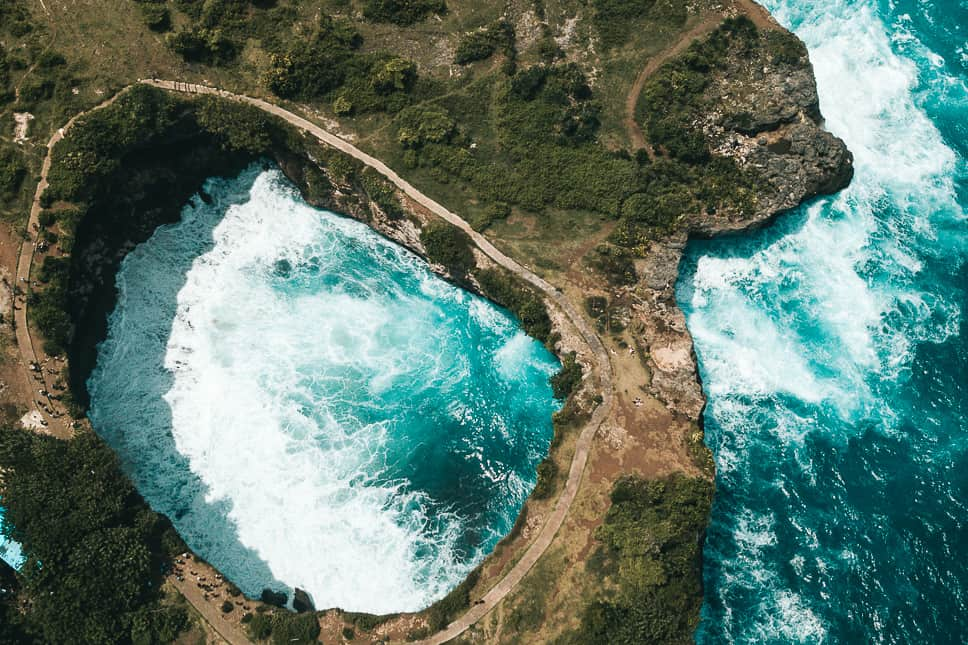 Nusa Penida Drone Cliffs Broken Beach