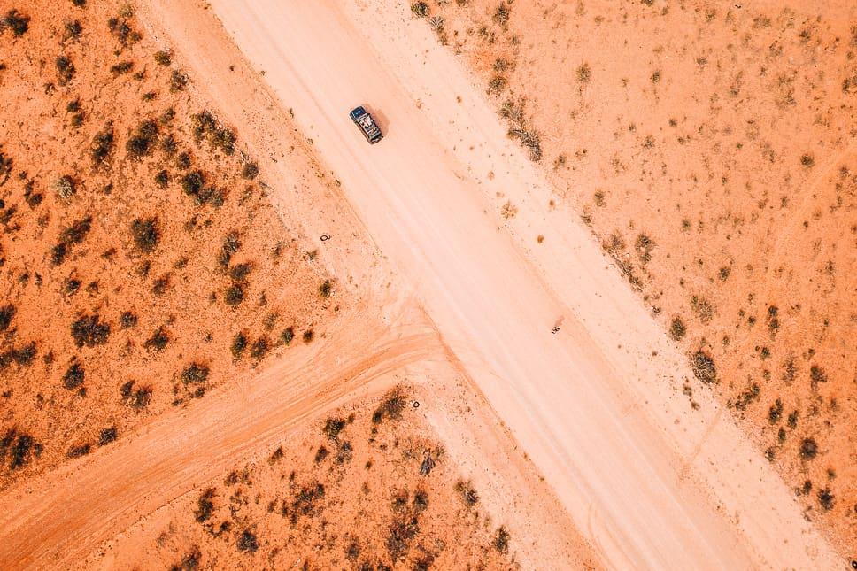 Gravel Outback Track Australia 4WD