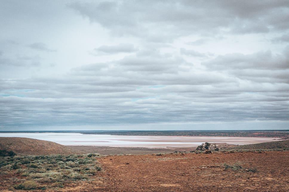 Salt lakes South Australia Stuart Highway
