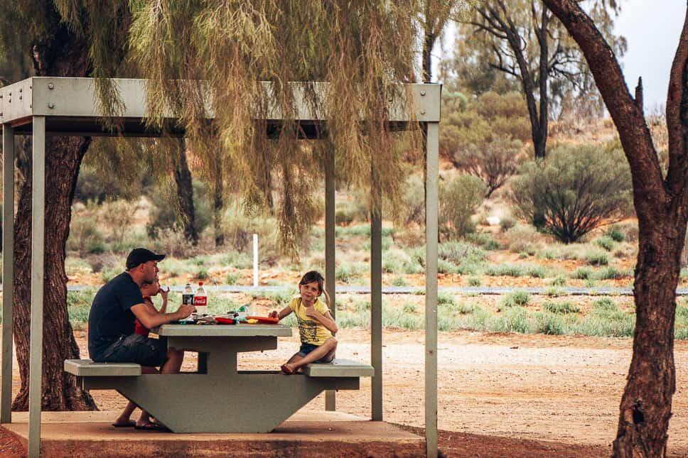 Resting Area Picnic Stuart Highway Road Trip