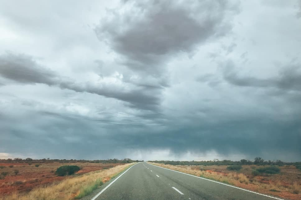Storm Rain Stuart Highway Coober pedy