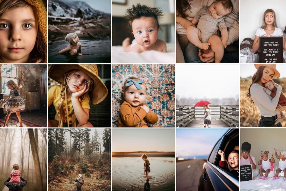 Instagram Feature Accounts Moms Hubs Child Photography