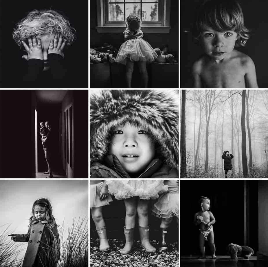 Black and White Children Kids Child Photography Hub