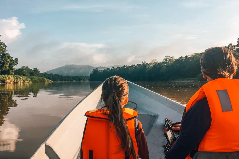Kinabatangan River bucket list jungle experience in Borneo with kids