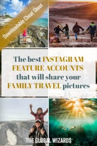 Best feature accounts hubs family travel Instagram