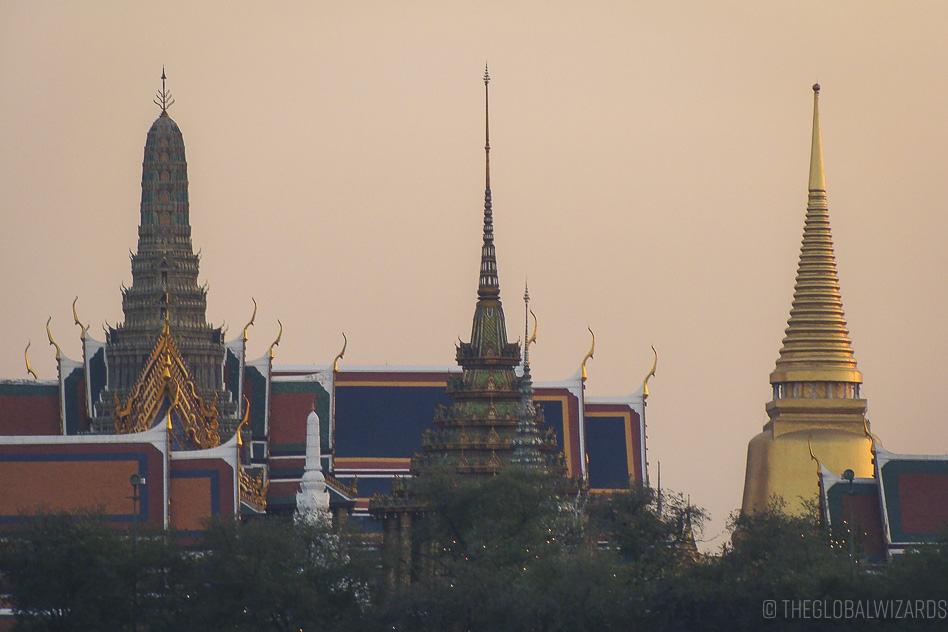 Koninklijk Paleis Zonsondergang Bangkok