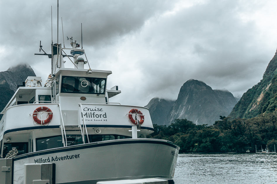Boat Vessel Cruise Milford Sound Smaller New Zeland