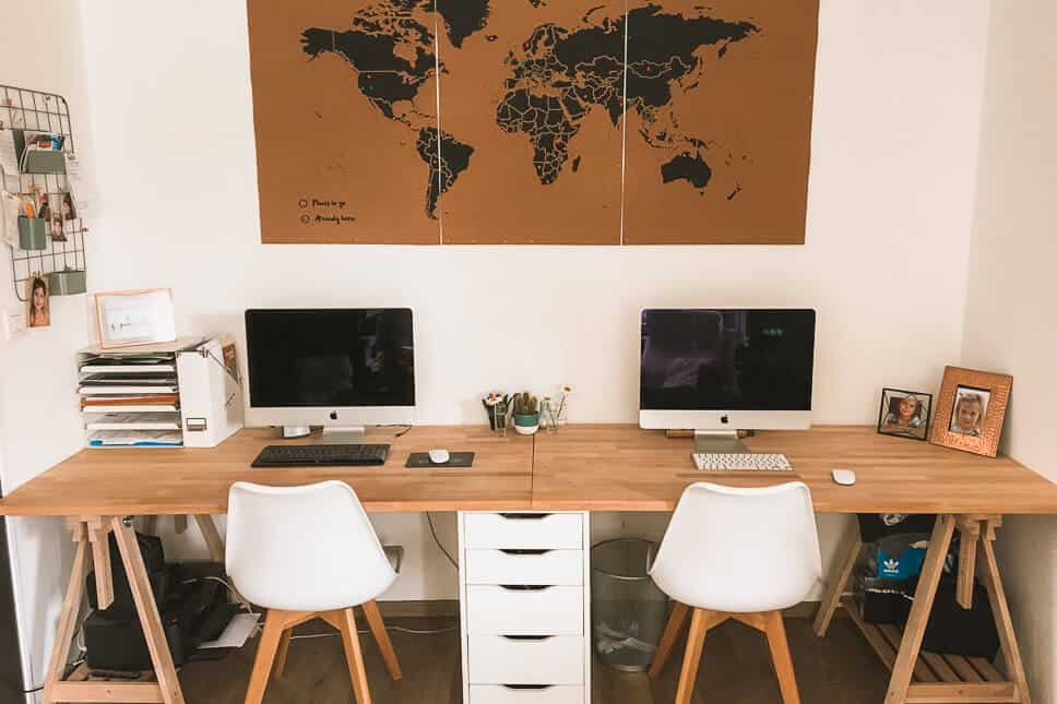 Dedicated work space for work from home moms and dads