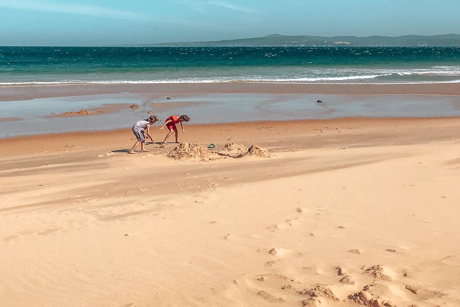 Kids Play Beach Eden NSW Australia