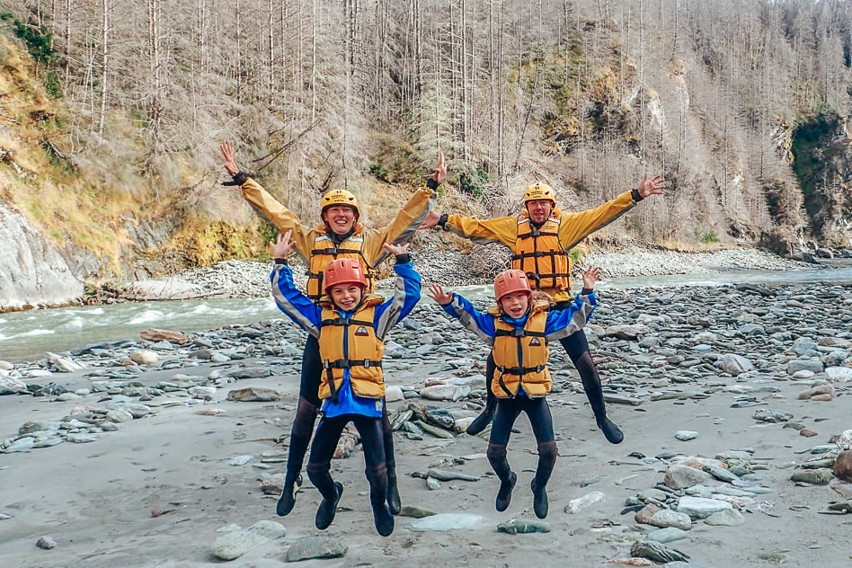 Family Adventures Rafting New Zealand Kids