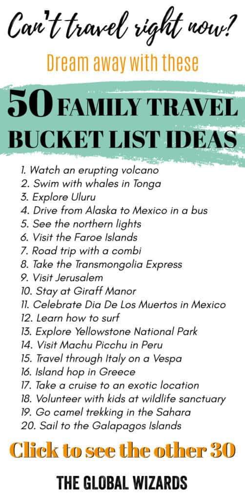 50 family travel bucket list ideas for your next trip