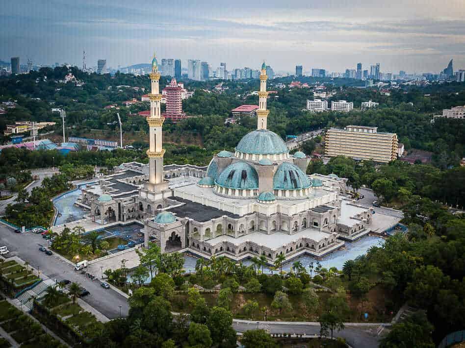 Kuala Lumpur Drone Federal Territory Mosque