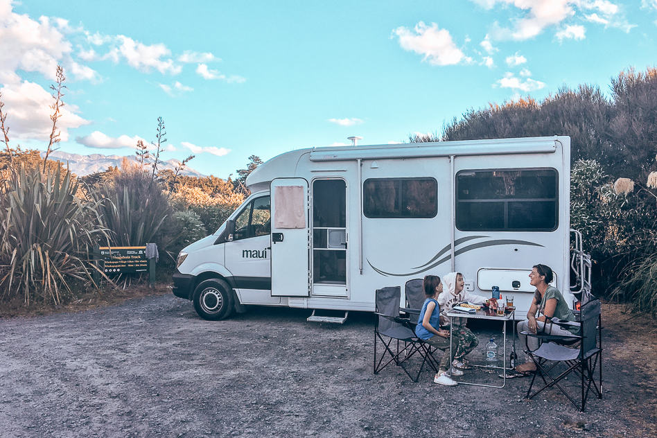 Saving money in New Zealand by free camping with our relocation campervan