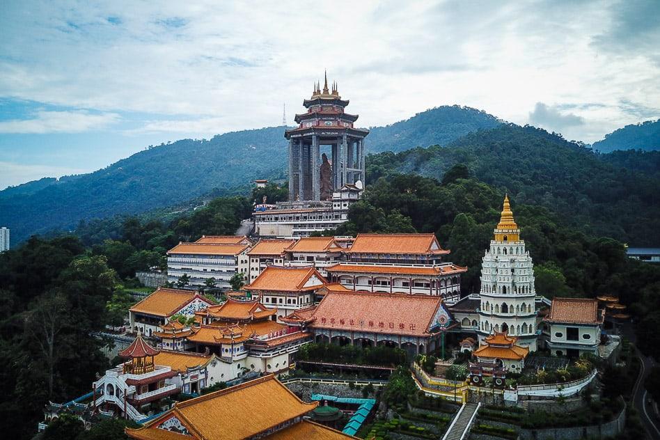 Drone Picture Kek Lok Si Temple Penang Malaysia