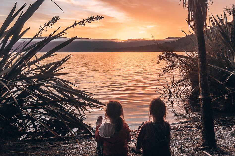 Sunset Lake Franz Joseph Glacier New Zealand