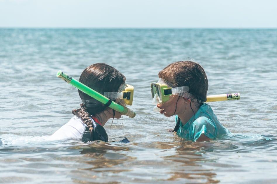Snorkelling Hervey Bay Eco Marine Tours Kids Australia