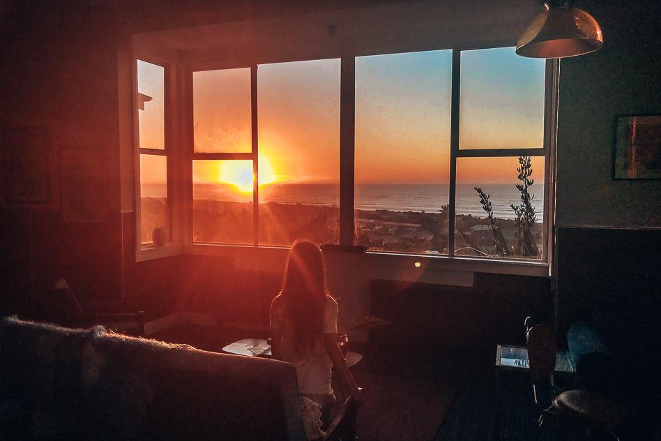 Sunset Hokitika New Zealand Hostel Psychiatric