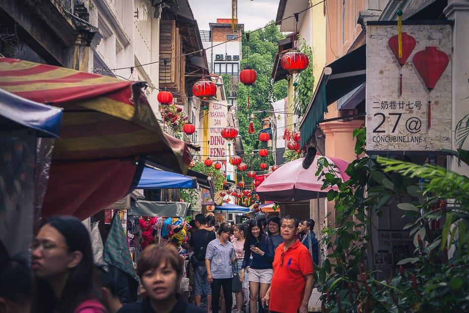 Concubine Lane Ipoh Malaysia Crowded